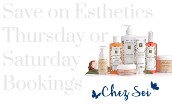 Save 20% Thursday & Saturday on Esthetic Services With Amie